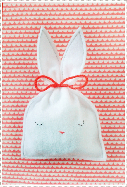 Easter Bunny Felt Goody Bag by Mer Mag
