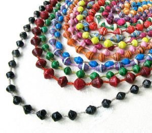 recy paper beads