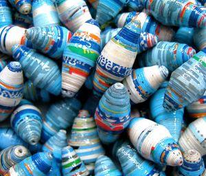 recyc paper beads 2